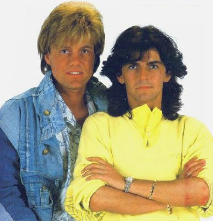 Photo of Thomas Anders & his friend   Dieter Bohlen