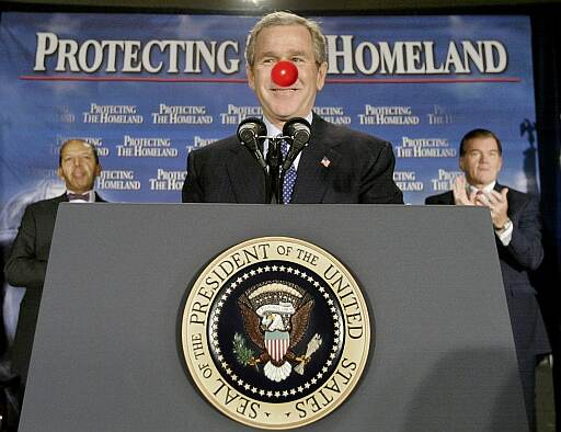 George Bush mit roter Nase am Rednoseday